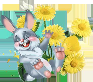 зайчик цветы (369x326, 173Kb)
