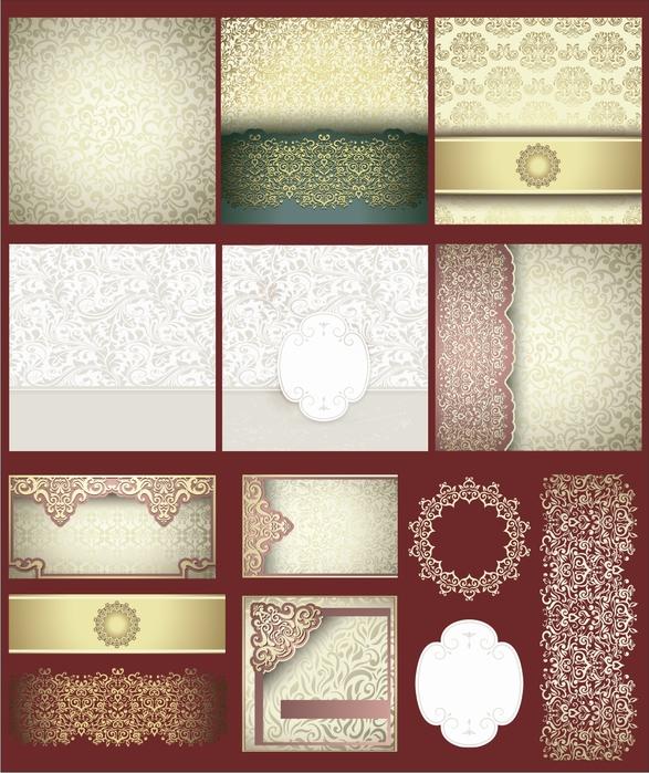 Клипарт и фоны для оформления свадебных приглашений. 21 png. Часть 8.