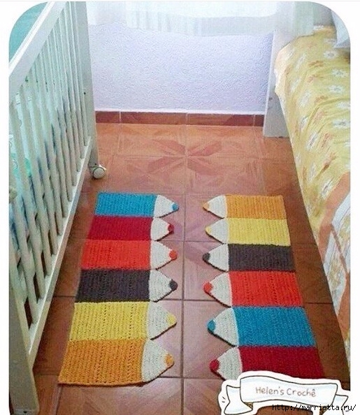 Прикроватный детский коврик Карандаши (2) (515x594, 231Kb)