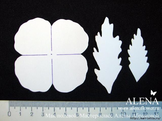 Цветы из ткани. МАК полевой (20) (640x480, 214Kb)