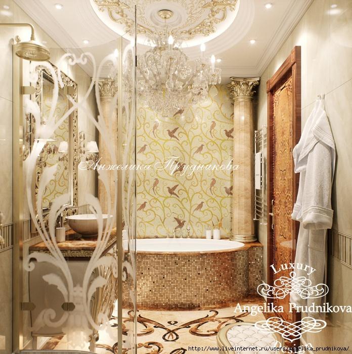 Дизайн интерьера квартиры «Золотая классика» /5994043_21vannaya (696x700, 381Kb)
