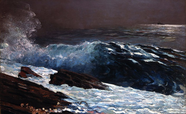 Sunlight on the Coast, 1890 (642x393, 302Kb)