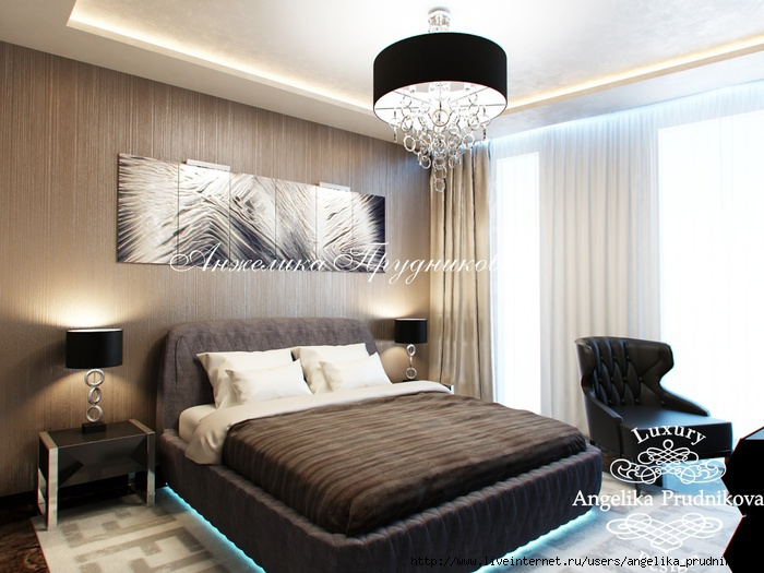 Интерьер квартиры в стиле модерн на Мосфильмовской /5994043_09_spalnya (700x525, 210Kb)