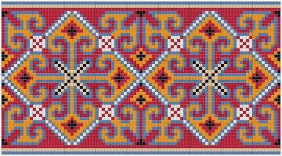 Армянские узоры вышивка 19
