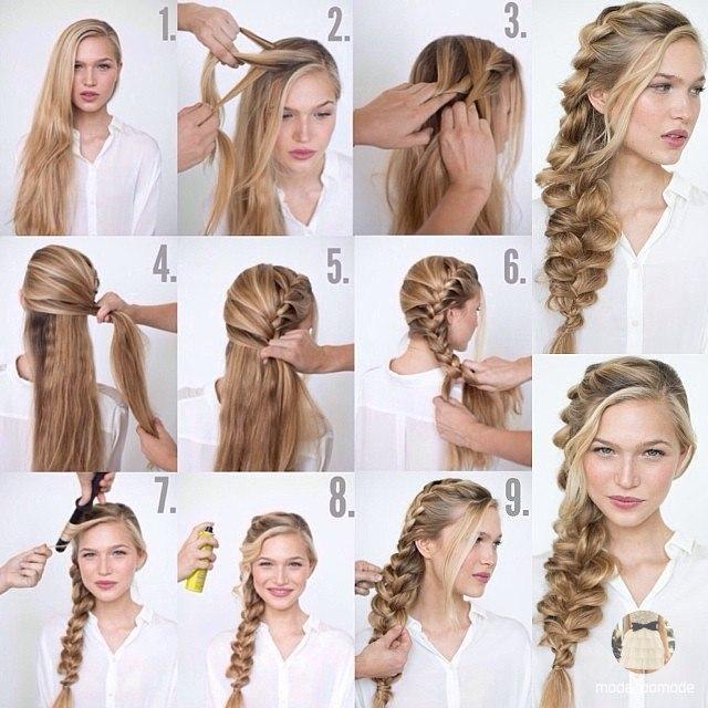 Красивые и легкие прически для длинных волос своими руками