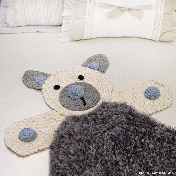 Прикроватный детский коврик Медвежонок (1) (600x600, 187Kb)
