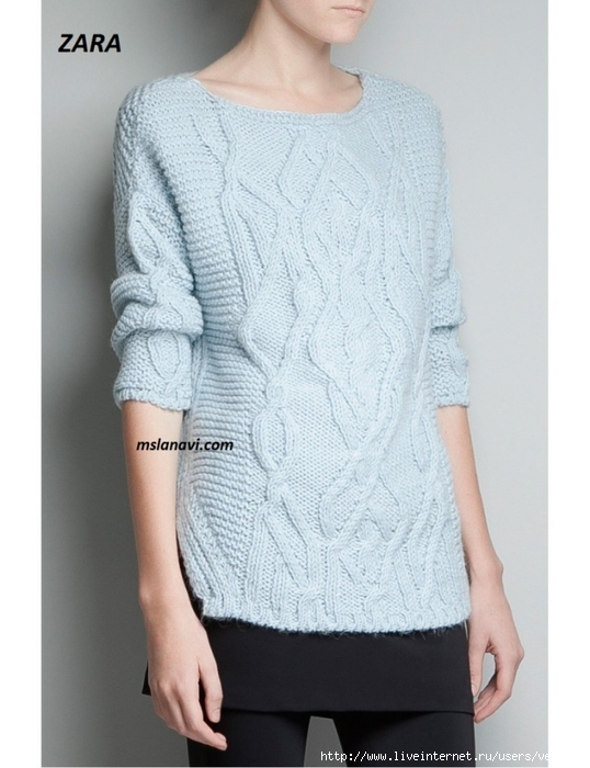 Вязаный-пуловер-ZARA-787x1024 (538x700, 213Kb)