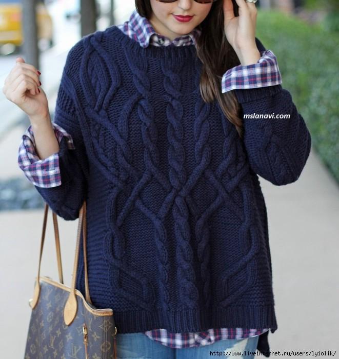 Вязаный-свитер-с-красивыми-аранами-967x1024 (661x700, 212Kb)