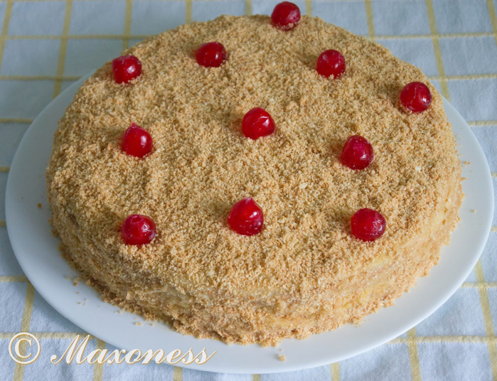 Пошаговый фоторецепт домашнего торта