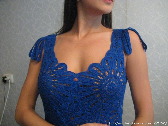 Сцепное кружево крючком схемы платья