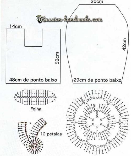 Цветочный коврики для ванной. Вязание крючком (2) (500x592, 170Kb)