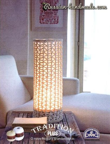 Обвязка крючком для настольной лампы (2) (425x554, 219Kb)