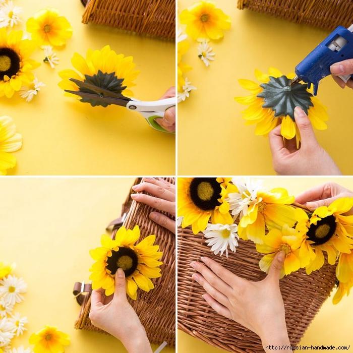 Декорирование корзинки искусственными цветами (3) (700x700, 346Kb)