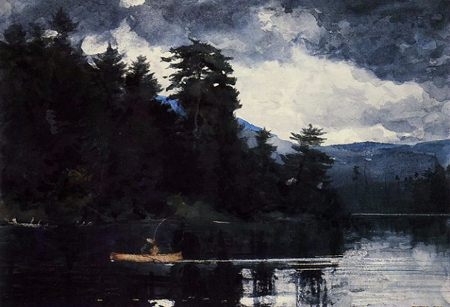 Adirondack Lake, 1889 (650x443, 270Kb)
