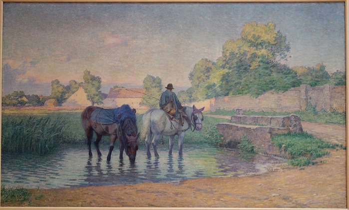 Scene_at_Fleury,_France,_by_Walter_Griffin,_1893,_oil_on_canvas_-_Chazen_Museum_of_Art_-_DSC02251 (700x421, 254Kb)