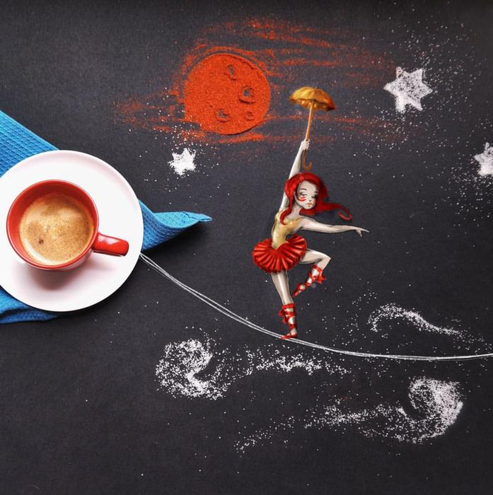 кофейные картинки Cinzia Bolognesi 3 (697x700, 634Kb)