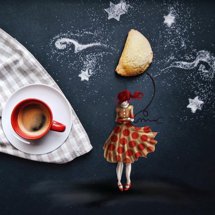 кофейные картинки Cinzia Bolognesi 5 (699x700, 654Kb)