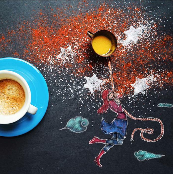 кофейные картинки Cinzia Bolognesi 11 (698x700, 918Kb)