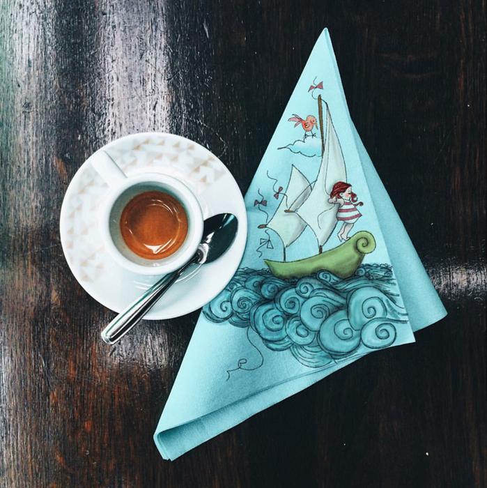 кофейные картинки Cinzia Bolognesi 14 (699x700, 762Kb)