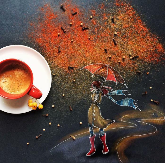 кофейные картинки Cinzia Bolognesi 16 (700x692, 864Kb)