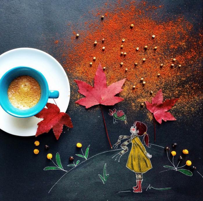 кофейные картинки Cinzia Bolognesi 17 (700x692, 824Kb)