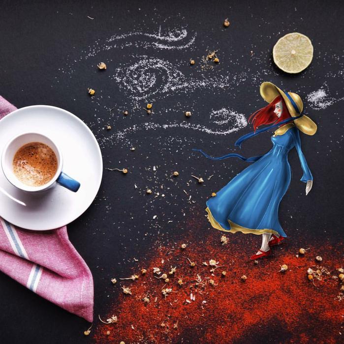 кофейные картинки Cinzia Bolognesi 19 (699x700, 757Kb)