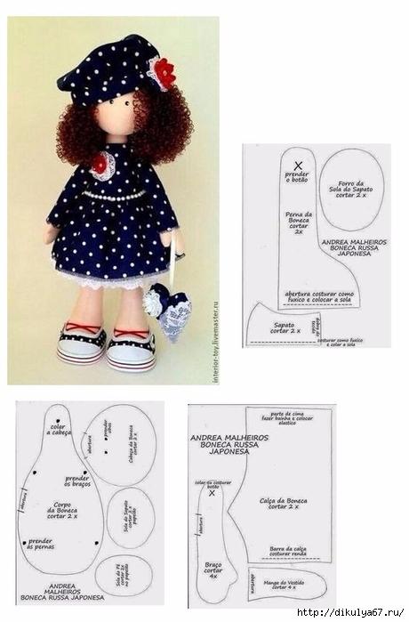 Сшить комбинезон для куклы большеножки