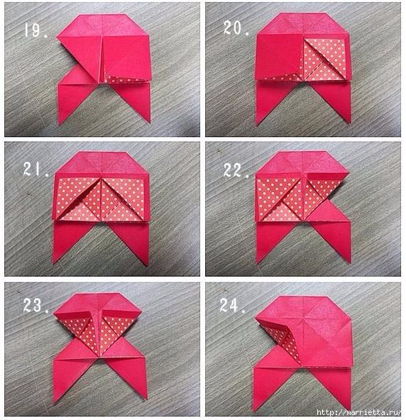 Бабочки из бумаги в технике оригами. 4 способа (6) (572x592, 310Kb)