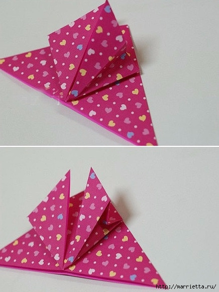 Бабочки из бумаги в технике оригами. 4 способа (12) (436x580, 140Kb)