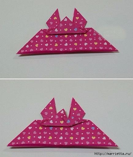 Бабочки из бумаги в технике оригами. 4 способа (16) (434x513, 121Kb)