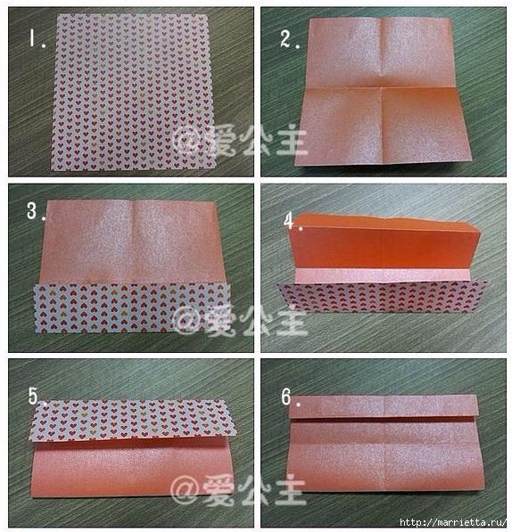 Бабочки из бумаги в технике оригами. 4 способа (26) (574x597, 306Kb)