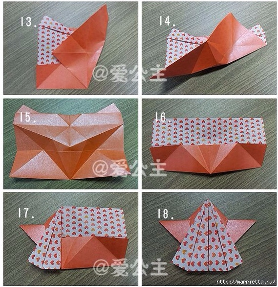 Бабочки из бумаги в технике оригами. 4 способа (28) (569x586, 322Kb)