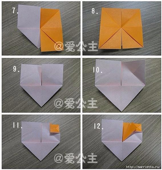 Бабочки из бумаги в технике оригами. 4 способа (32) (568x595, 253Kb)