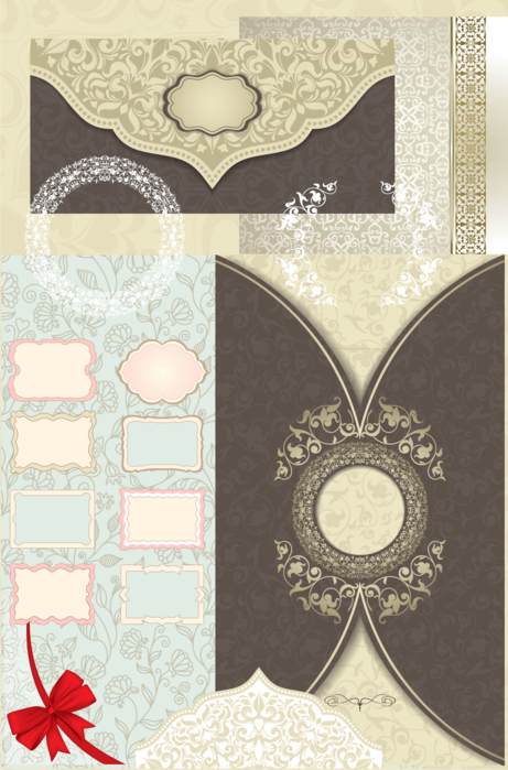 Клипарт и фоны для оформления свадебных приглашений. 24 png. Часть 9.