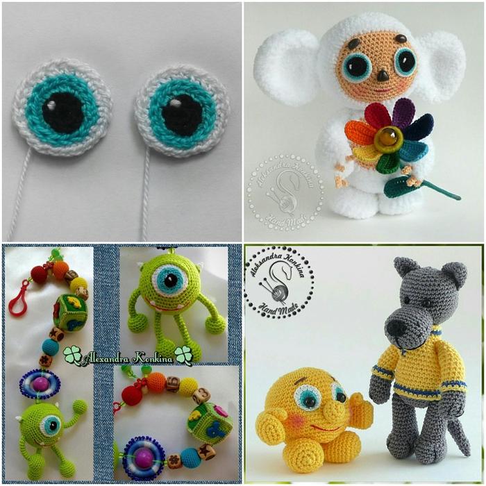 Как сделать глаза у вязаной игрушки 239