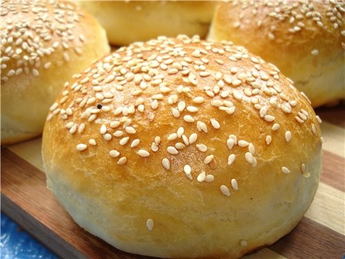 булочки с кунжутом рецепт бутерброда гамбургера
