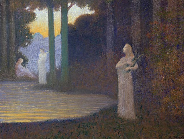 Lyricism in the Forest, 1910 (642x486, 377Kb)