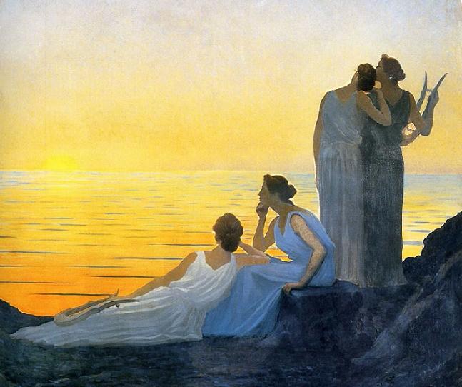 Soir dans l'Antiquité (Evening in Antiquity), 1908 (647x542, 375Kb)
