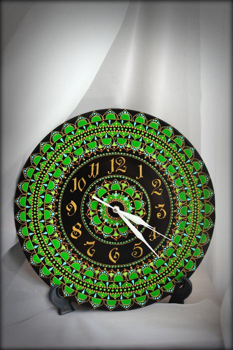 часы - Зеленая Мандала1 (466x700, 490Kb)