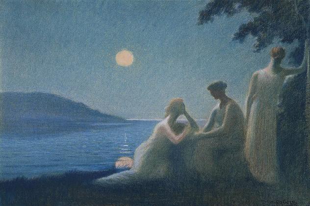 Sous un Rayon de Lune (Circa 1895) (632x420, 317Kb)