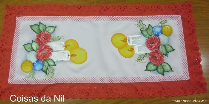 Новогодняя роспись ткани. Шаблон для скатерти или салфеток (5) (700x350, 205Kb)