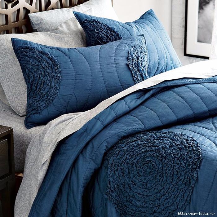 Шьем сами. Интересный декор подушки и одеяла воланами (7) (700x700, 424Kb)