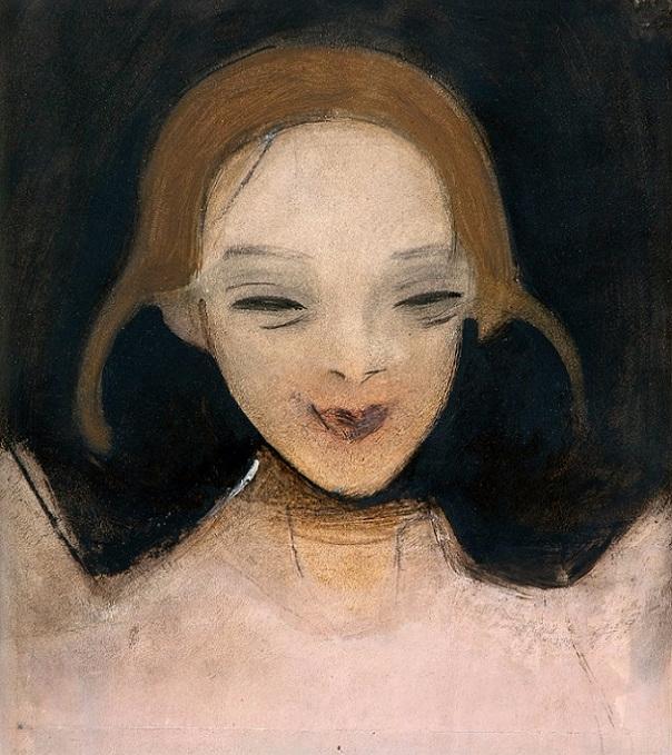 Улыбающееся девушка, 1921 (604x679, 404Kb)