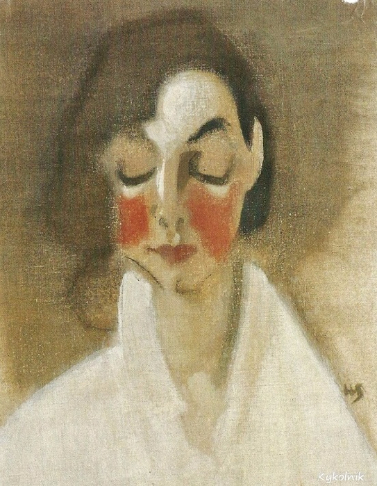 Rosy-cheeked girl, 1927 (543x700, 426Kb)