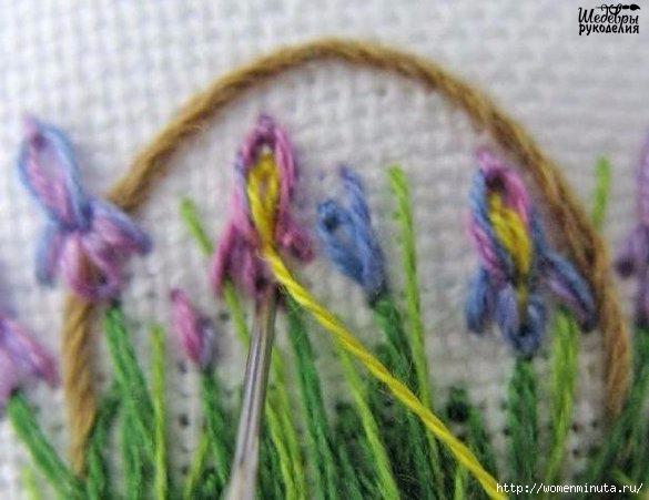 Вышивка корзинки с цветами(585x451, 140Kb)