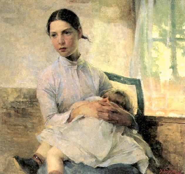 The Nursemaid, 1880s (630x593, 461Kb)