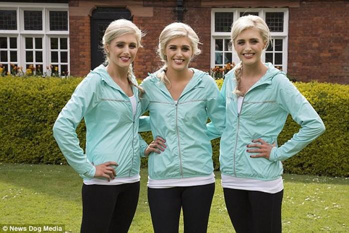Модели тройняшки из Дублина все делают вместе, чтобы быть максимально похожими