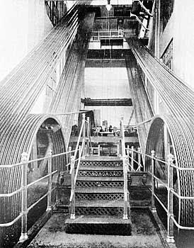 Трансмиссия на фабрике Товарищества мануфактур, основанных И.И.Скворцовым. 1910-е гг (274x350, 80Kb)