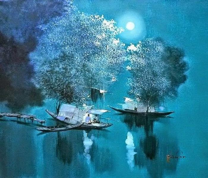 Вьетнамский художник Данг Ван Кан и пейзажи реки Меконг