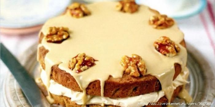 Кофейный торт с орехами (700x350, 153Kb)